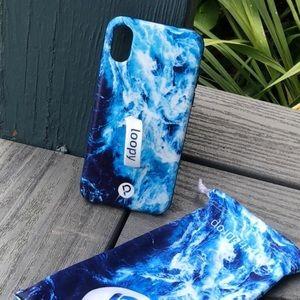 Loopy Ocean Matte iphone X phone case